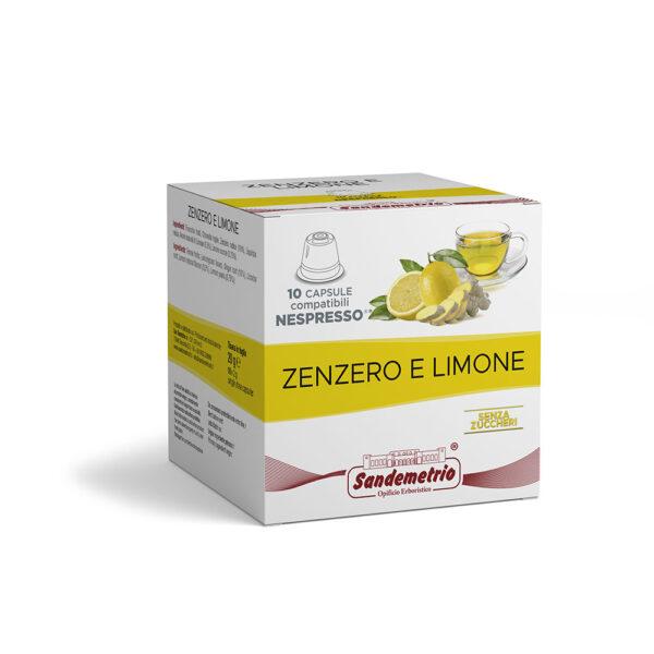 Infuso zenzero e limone in capsule Nespresso